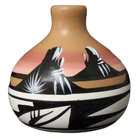 Desert Rainbow 3 1/2 x 3 1/2 Ball Vase -(11083)