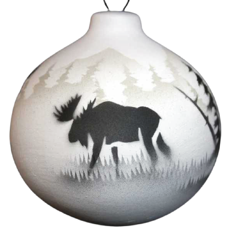 High Country Tracks Moose Ornament -(60151)