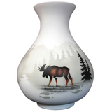 High Country Tracks Moose Vase