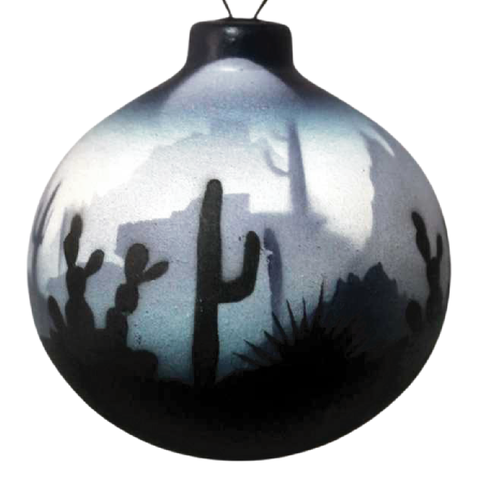 Blue Sonora Desert  Ornament -(44151)