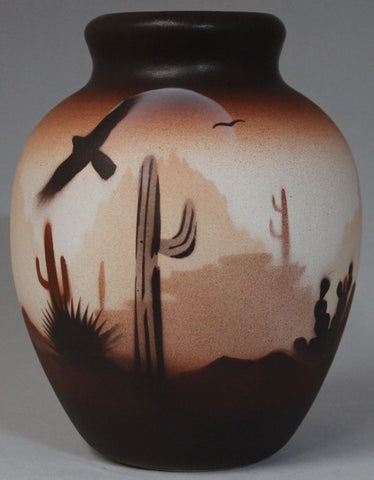 Brown Sonora Desert  4 1/2 x 6 Jar -(46084)