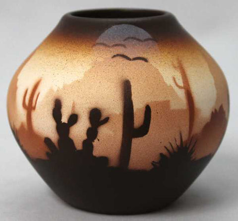 Brown Sonora Desert  Mini Pot -(46035)