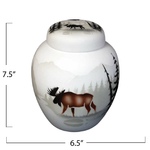 High Country Tracks Moose Jar with Lid