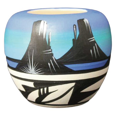 Desert Rainbow  Mini Pot -(11016)