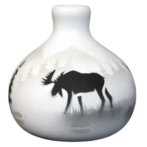 High Country Tracks Moose 3 1/2 x 3 1/2 Ball Vase -(60083)