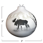 High Country Tracks Moose Ornament