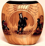 Authentic Navajo Etched Collector Piece by James Benally -(JBH048)
