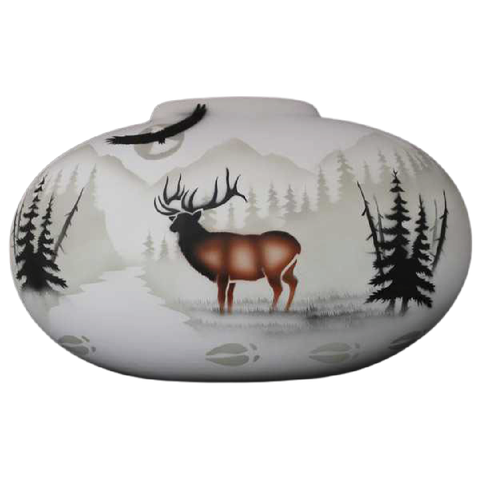 High Country Tracks Elk 16 1/2 x 10 1/2 Pillow Vase -(63142)