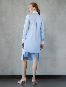 Light Blue Shirt with Openings