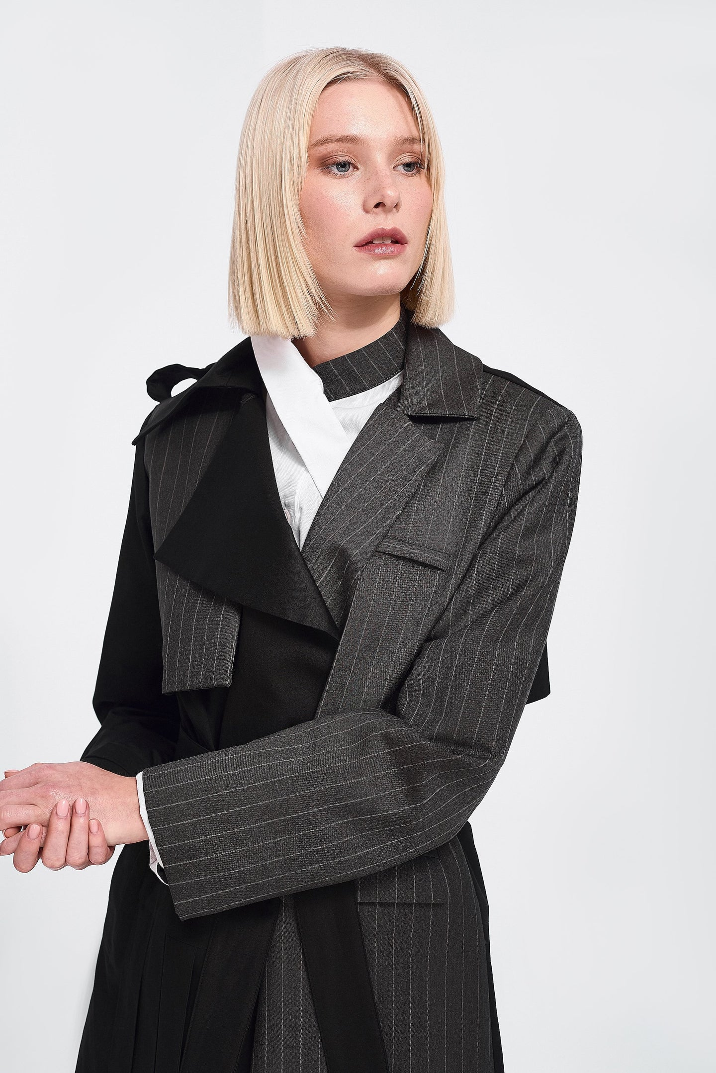 Deconstructed Trench Coat belted and double-breasted