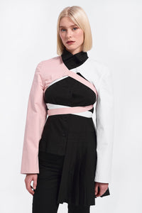 Sleeves in black, white and pink