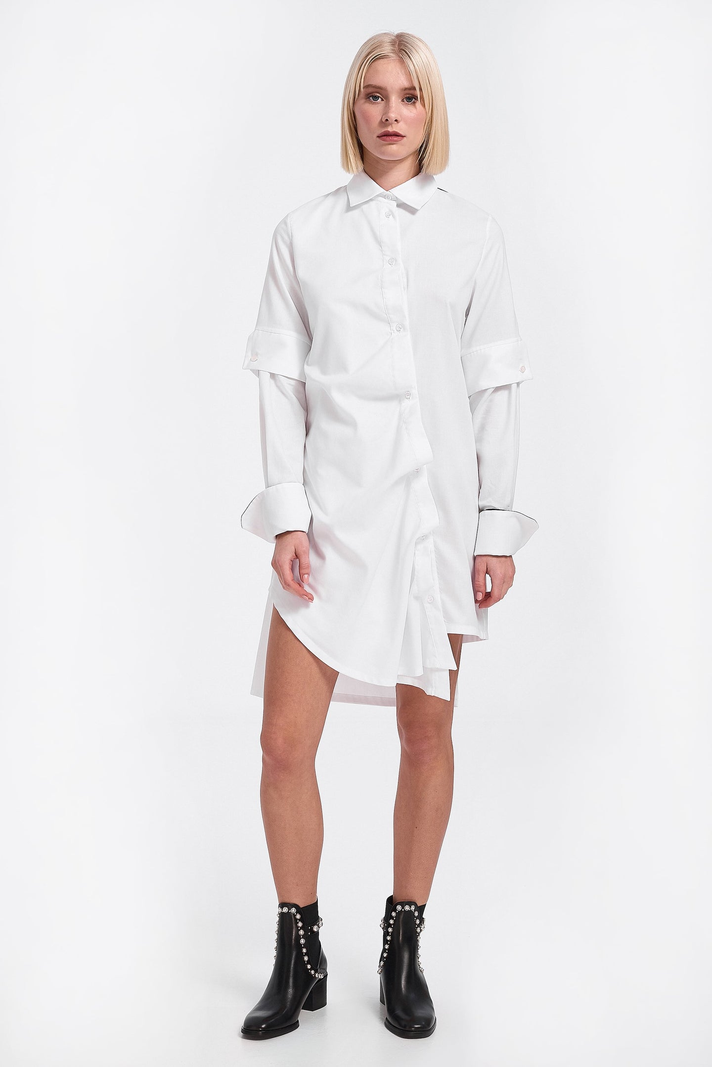 Dress shirt, asymmetric white