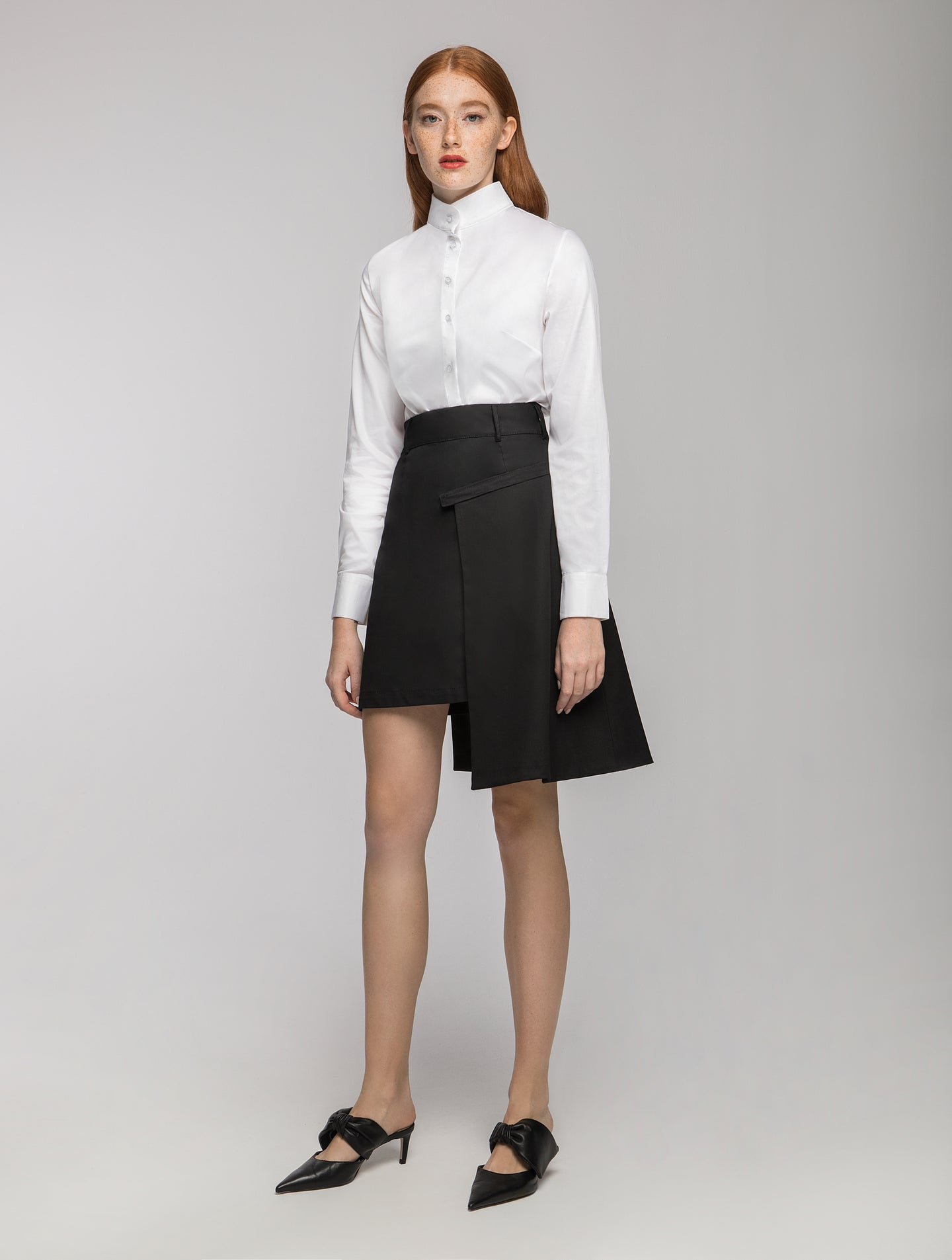 Black Skirt with removable half skirt