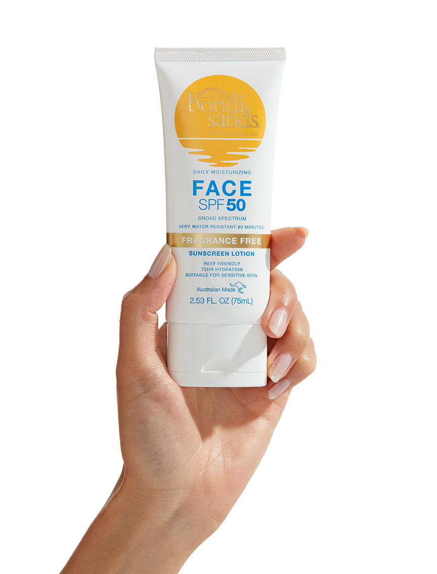 SPF 50 Fragrance Free Face Sunscreen Lotion