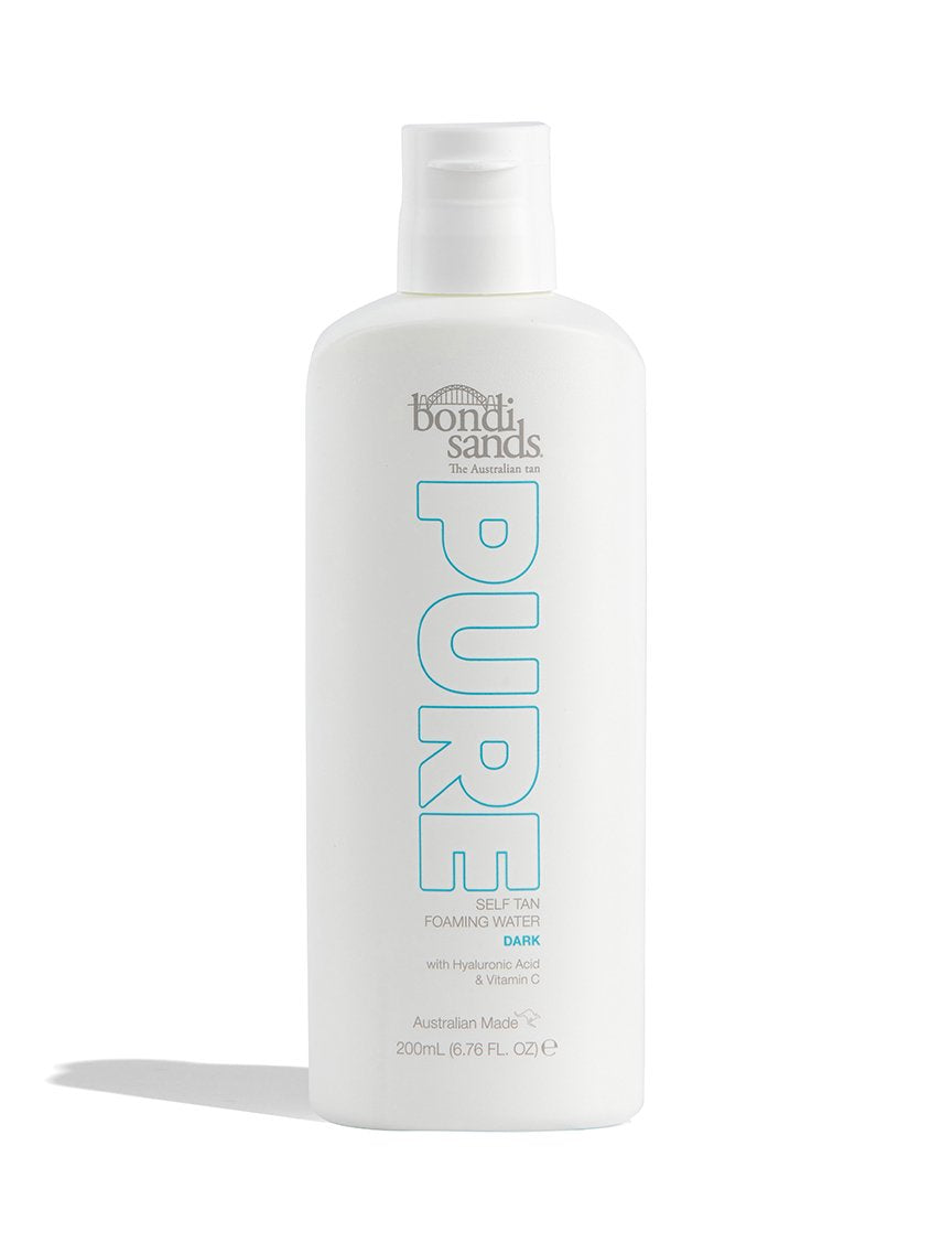 Australian Made PURE Self Tan Foaming Water in Dark