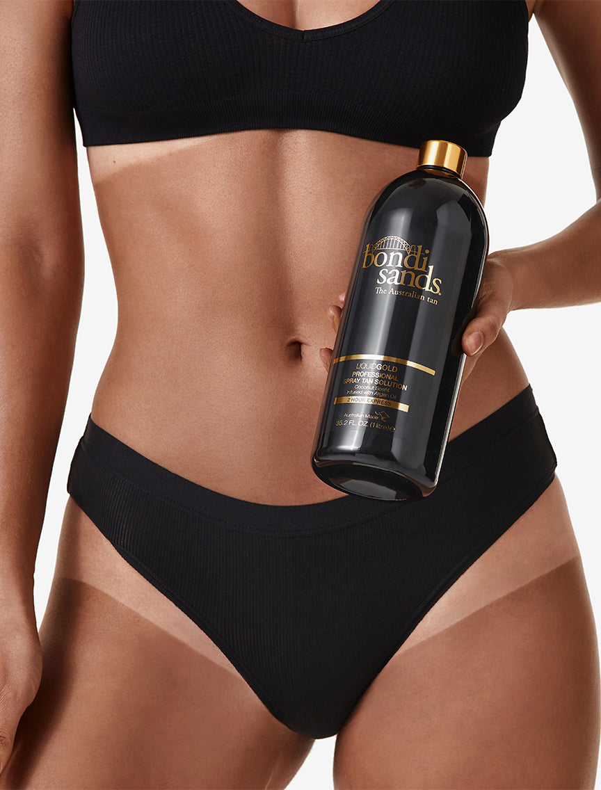 Professional Two Hour Express Liquid Gold Spray Tan Solution