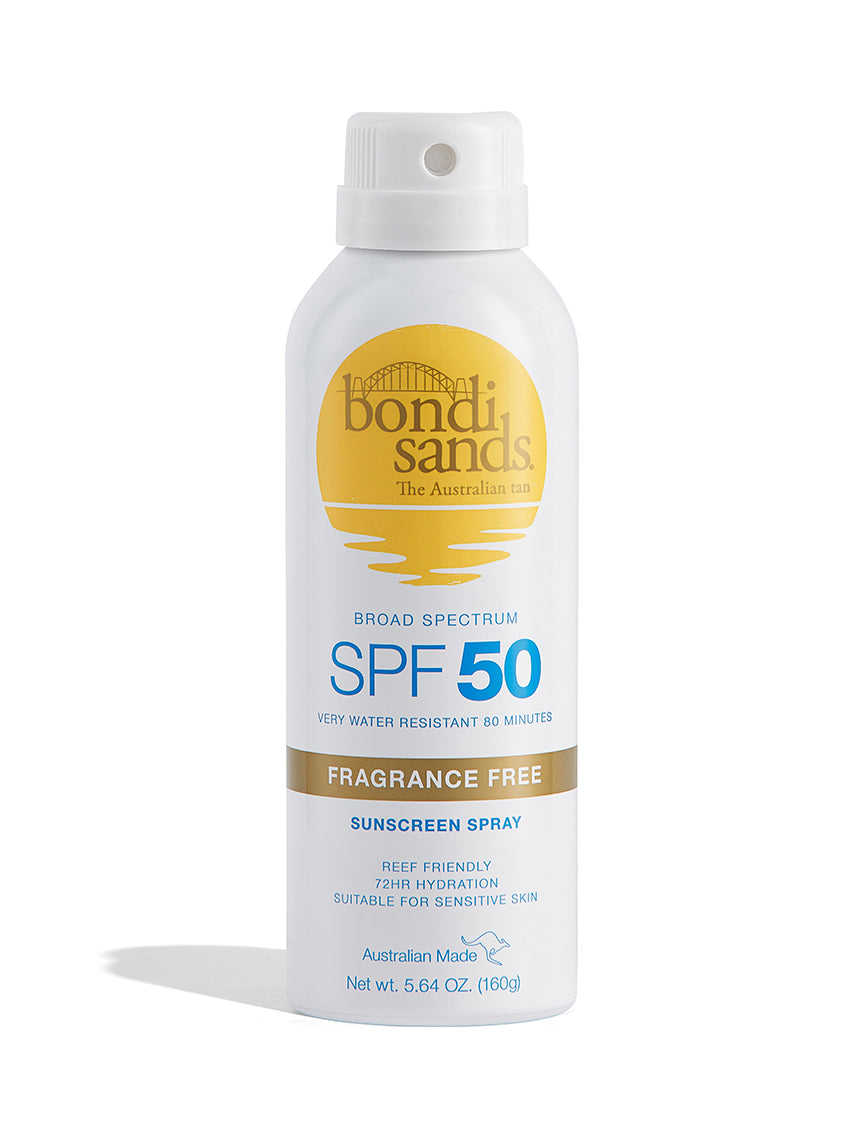 Broad Spectrum SPF 50 Fragrance Free Sunscreen Spray With Reef Friendly Ingredients