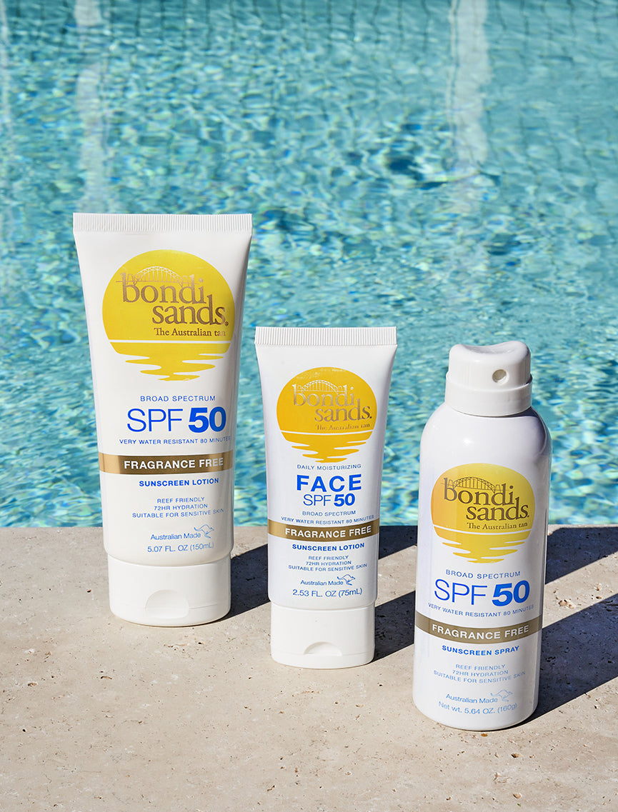Bondi Sands Fragrance Free SPF 50 Suncare for Face and Body