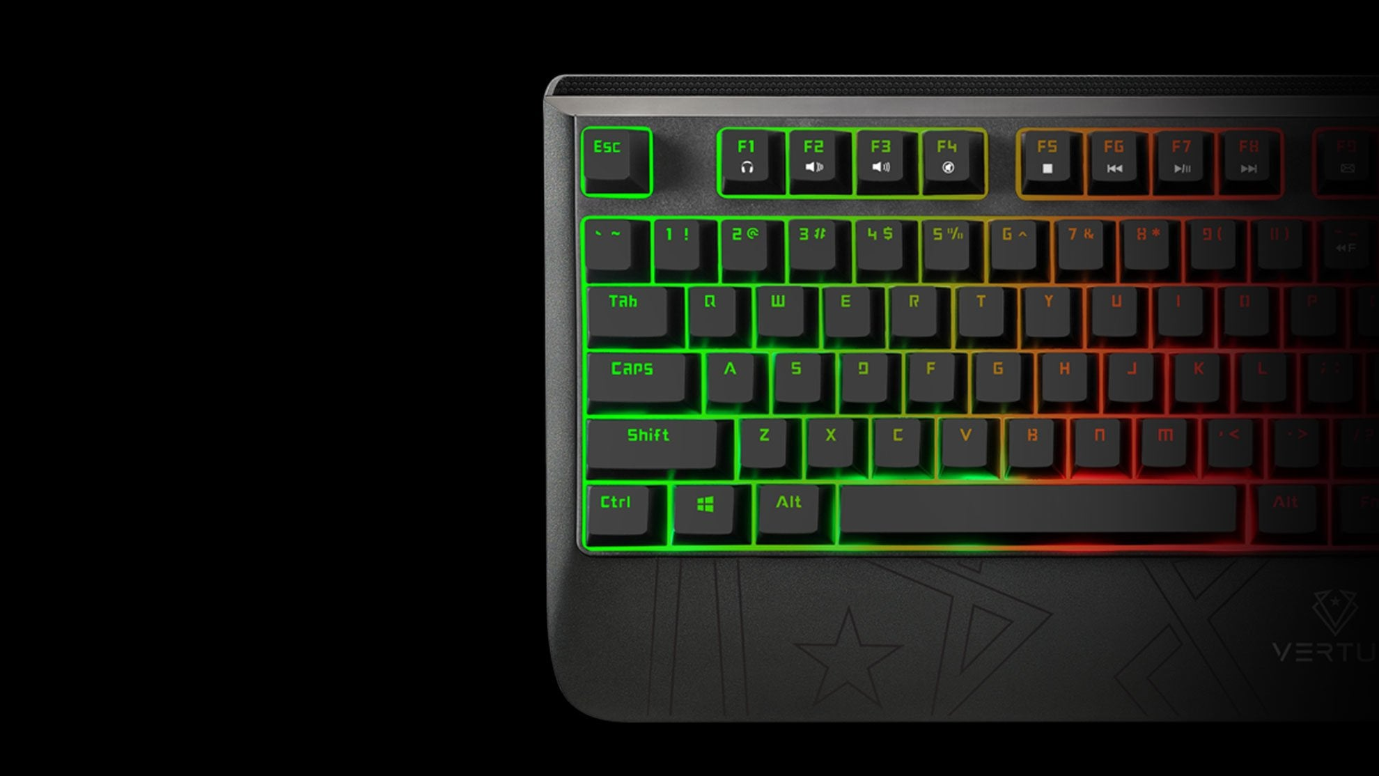 RaidKey Rapid Wired Semi-Mechanical Gaming Keyboard