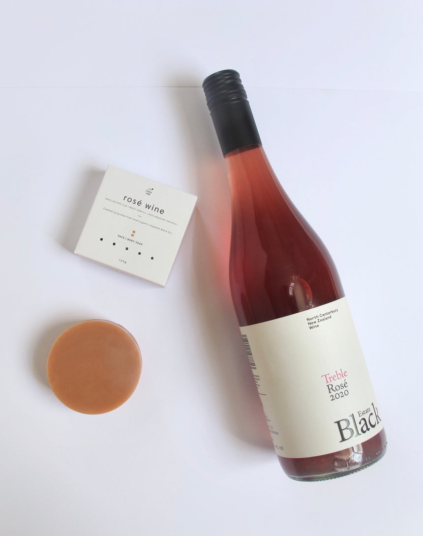 Rosé Wine & Rose Clay Face + Body Soap