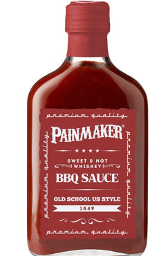 PAINMAKER Sweet & Hot Whiskey BBQ Sauce 195ml - Grillbilliger