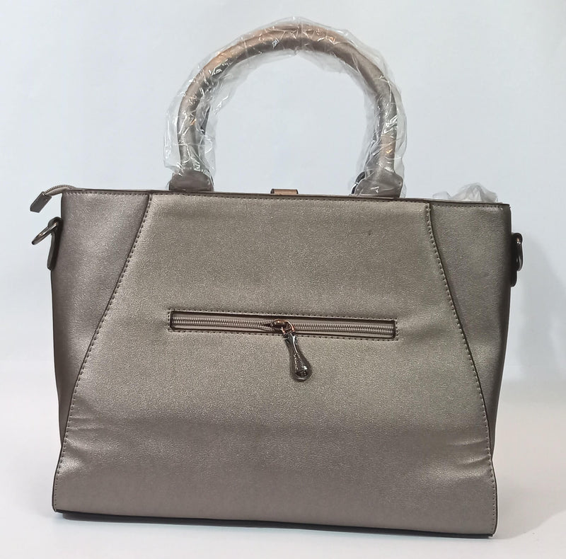 Grey Hand Bag with Pocket