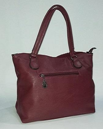 Maroon Leather Bag