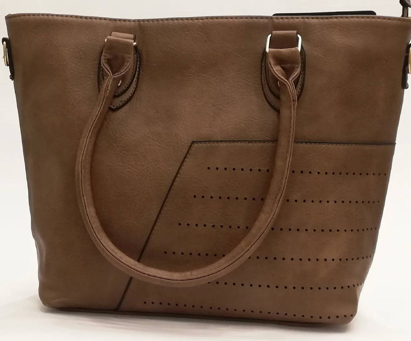Bag with twin Leather handles - MulberryFeel