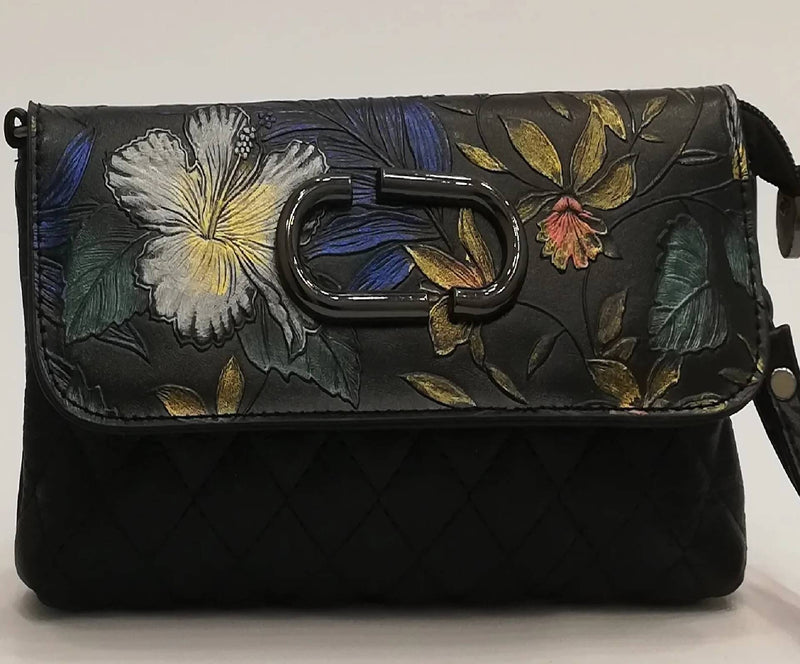 FLORAL PRINT CLUTCH - MulberryFeel