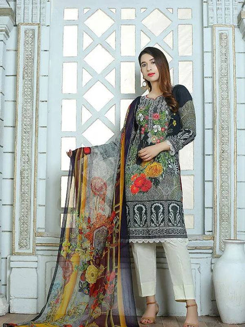Embroidered Premium Quality Lawn - MulberryFeel