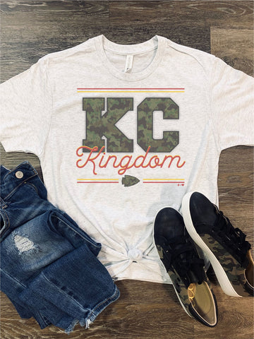 Kansas City Chiefs Football T Shirt - Camo