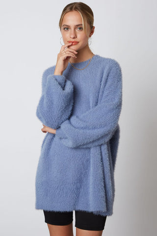 Elle Belle Cozy Knit Sweater - Blue