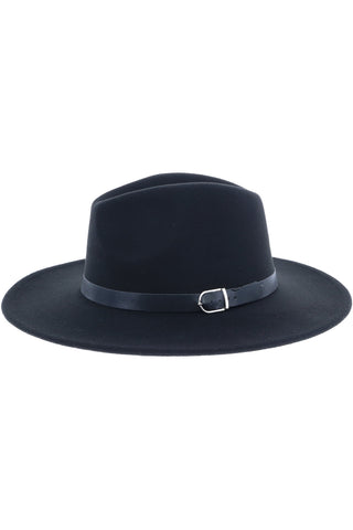 Ace of Spades Fedora Hat - Black