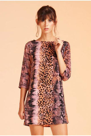 That's Hiss Girl Shift Dress - Animal Print