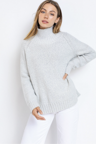 Ice Princess Turtleneck Sweater - Ivory