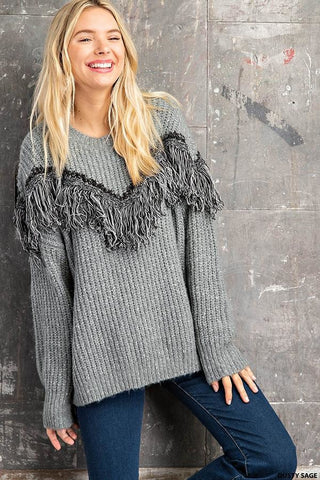 It Wasn't Me Shaggy Sweater - Gray