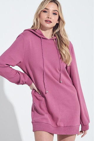 Mauve Maiden Hoodie Dress - Pink