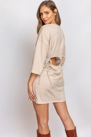 My Honey Open Back Dress - Taupe