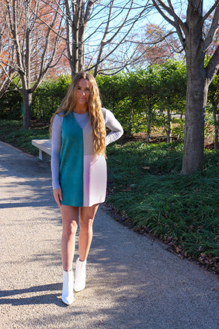 I'm A Boss Color Block Dress - Blue