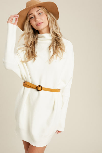 You're My Snow Angel Sweater Dress - Ivory