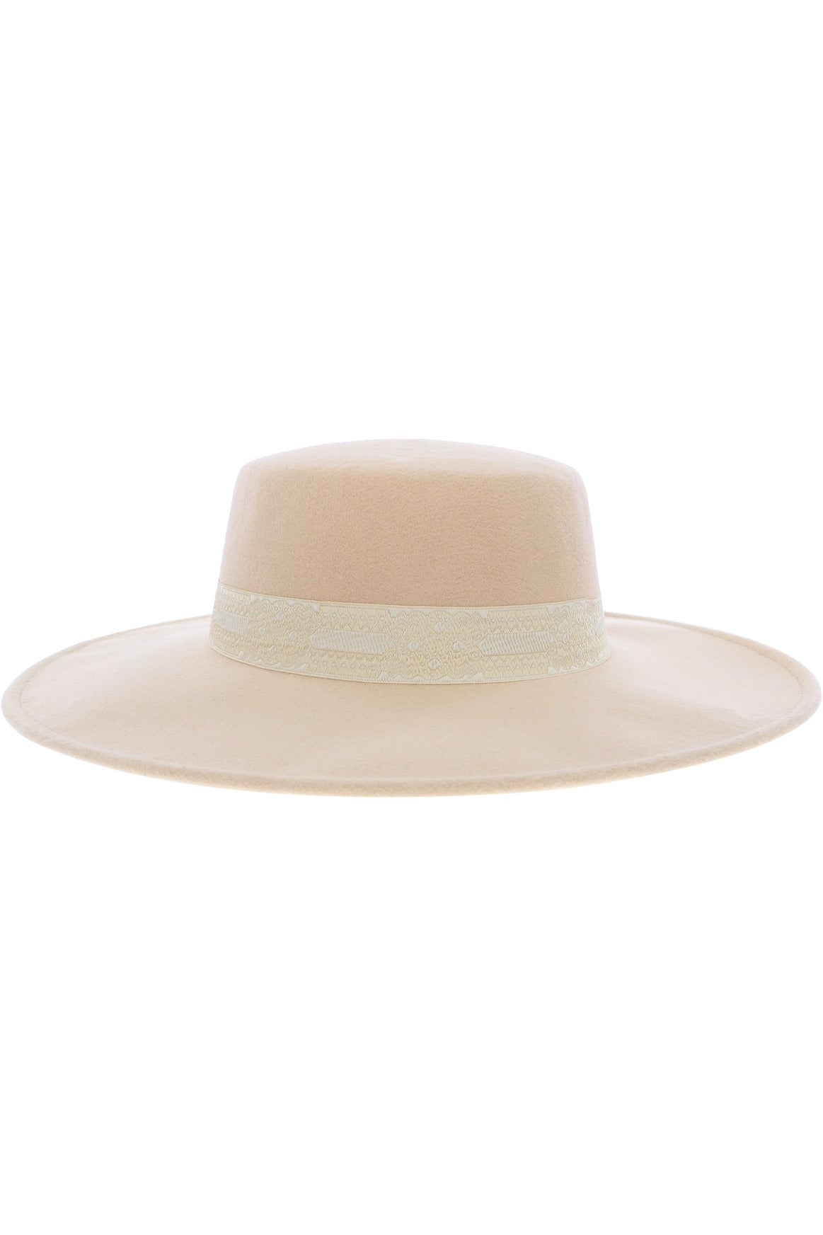 Amazing Lace Wide Brim Hat - Ivory