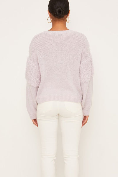 Lucky In Lavender Sweater - Purple