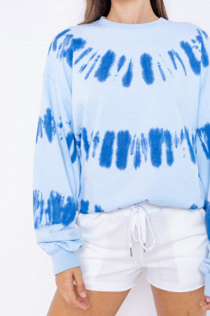 And Everything Is Blue For Her Tie Dye Pullover- Blue