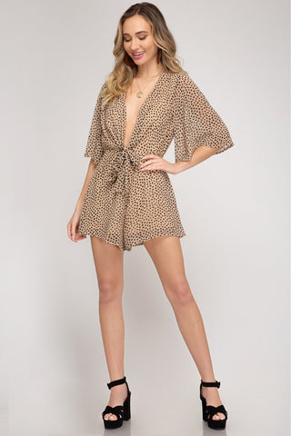 Down On Main Sand Romper - Taupe