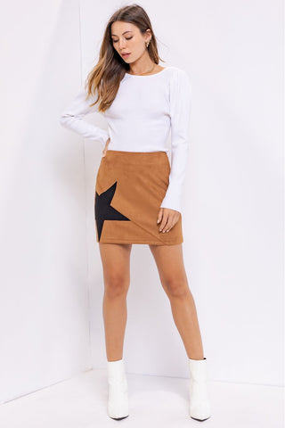 You Are Starstruck Skirt - Brown