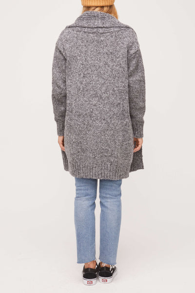 Cute as a Button Sweater - Gray