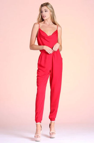 Be My Valentine Jumpsuit - Red