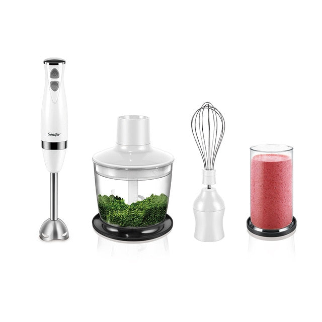 3-in-1 Stainless Steel 2-Speeds Immersion Electric Blender
