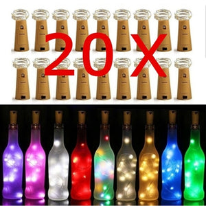 Wine Bottle Lights String Fairy Light Cork Lights Copper Wire String