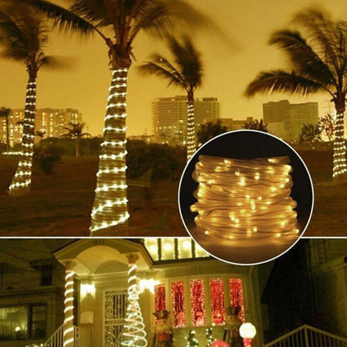 100 LED Solar Light String Outdoor Waterproof for Garden Decoration